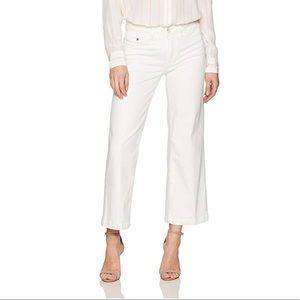 PAIGE LORI Ankle Velvet Welt Zip Summer Sand Jeans